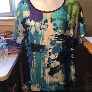 Cato 26  28 Abstract blue tunic